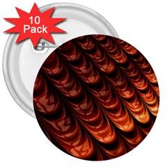 Brown Fractal Mathematics Frax 3  Buttons (10 Pack)