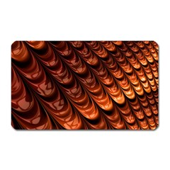 Brown Fractal Mathematics Frax Magnet (Rectangular)