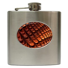 Brown Fractal Mathematics Frax Hip Flask (6 Oz)