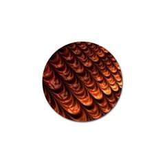 Brown Fractal Mathematics Frax Golf Ball Marker (10 Pack)