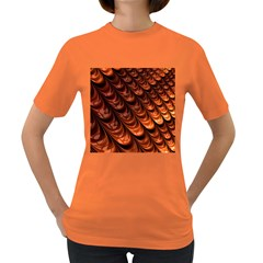 Brown Fractal Mathematics Frax Women s Dark T-Shirt