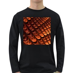Brown Fractal Mathematics Frax Long Sleeve Dark T Shirts