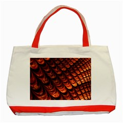 Brown Fractal Mathematics Frax Classic Tote Bag (red)