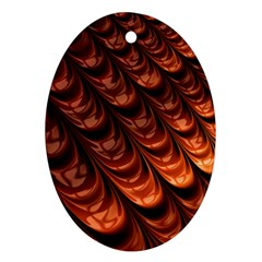 Brown Fractal Mathematics Frax Oval Ornament (two Sides)