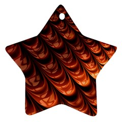 Brown Fractal Mathematics Frax Star Ornament (two Sides)
