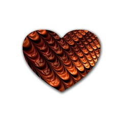 Brown Fractal Mathematics Frax Rubber Coaster (heart)