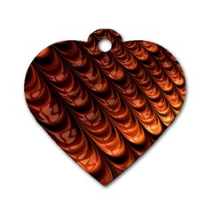 Brown Fractal Mathematics Frax Dog Tag Heart (one Side)
