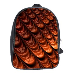 Brown Fractal Mathematics Frax School Bags(large)