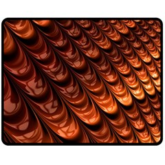 Brown Fractal Mathematics Frax Fleece Blanket (medium)