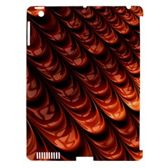 Brown Fractal Mathematics Frax Apple Ipad 3/4 Hardshell Case (compatible With Smart Cover)