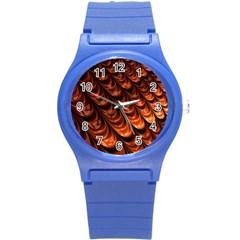 Brown Fractal Mathematics Frax Round Plastic Sport Watch (s)