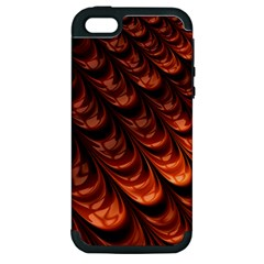 Brown Fractal Mathematics Frax Apple Iphone 5 Hardshell Case (pc+silicone)