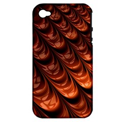 Brown Fractal Mathematics Frax Apple Iphone 4/4s Hardshell Case (pc+silicone)
