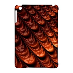 Brown Fractal Mathematics Frax Apple Ipad Mini Hardshell Case (compatible With Smart Cover)