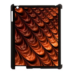 Brown Fractal Mathematics Frax Apple Ipad 3/4 Case (black)