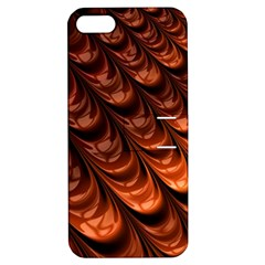 Brown Fractal Mathematics Frax Apple Iphone 5 Hardshell Case With Stand