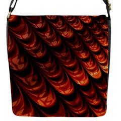 Brown Fractal Mathematics Frax Flap Messenger Bag (s)