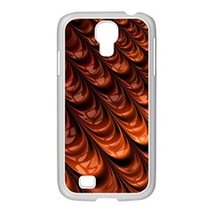 Brown Fractal Mathematics Frax Samsung Galaxy S4 I9500/ I9505 Case (white)