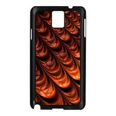 Brown Fractal Mathematics Frax Samsung Galaxy Note 3 N9005 Case (black)