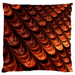 Brown Fractal Mathematics Frax Large Flano Cushion Case (two Sides)