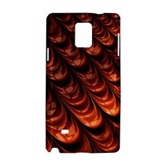 Brown Fractal Mathematics Frax Samsung Galaxy Note 4 Hardshell Case