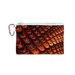 Brown Fractal Mathematics Frax Canvas Cosmetic Bag (s)
