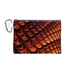 Brown Fractal Mathematics Frax Canvas Cosmetic Bag (m)
