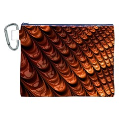 Brown Fractal Mathematics Frax Canvas Cosmetic Bag (xxl)