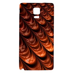 Brown Fractal Mathematics Frax Galaxy Note 4 Back Case