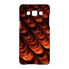 Brown Fractal Mathematics Frax Samsung Galaxy A5 Hardshell Case
