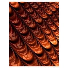 Brown Fractal Mathematics Frax Drawstring Bag (large)