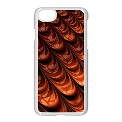 Brown Fractal Mathematics Frax Apple Iphone 7 Seamless Case (white)