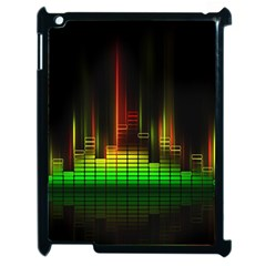 Plaid Light Neon Green Apple Ipad 2 Case (black)