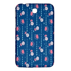 Pig Pork Blue Water Rain Pink King Princes Quin Samsung Galaxy Tab 3 (7 ) P3200 Hardshell Case