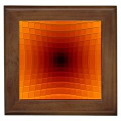 Orange Background Wallpaper Texture Lines Framed Tiles