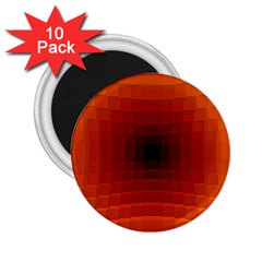 Orange Background Wallpaper Texture Lines 2 25  Magnets (10 Pack)