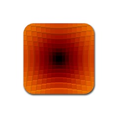 Orange Background Wallpaper Texture Lines Rubber Square Coaster (4 Pack)