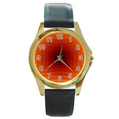 Orange Background Wallpaper Texture Lines Round Gold Metal Watch