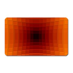 Orange Background Wallpaper Texture Lines Magnet (Rectangular)