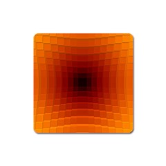 Orange Background Wallpaper Texture Lines Square Magnet