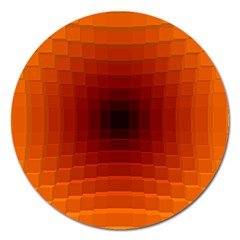 Orange Background Wallpaper Texture Lines Magnet 5  (round)