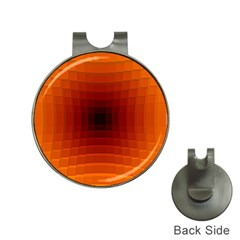 Orange Background Wallpaper Texture Lines Hat Clips With Golf Markers