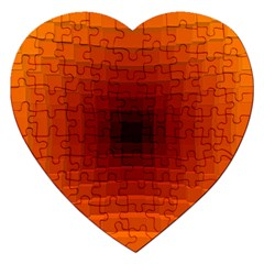 Orange Background Wallpaper Texture Lines Jigsaw Puzzle (Heart)