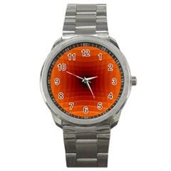 Orange Background Wallpaper Texture Lines Sport Metal Watch