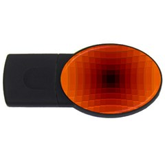 Orange Background Wallpaper Texture Lines Usb Flash Drive Oval (4 Gb)