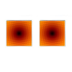 Orange Background Wallpaper Texture Lines Cufflinks (square)