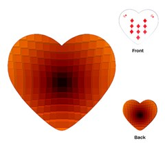 Orange Background Wallpaper Texture Lines Playing Cards (heart)