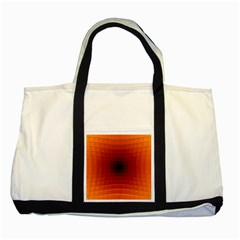 Orange Background Wallpaper Texture Lines Two Tone Tote Bag