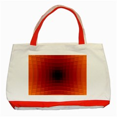 Orange Background Wallpaper Texture Lines Classic Tote Bag (red)