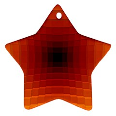 Orange Background Wallpaper Texture Lines Star Ornament (two Sides)